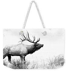 Bull Elk In Rut Weekender Tote Bag