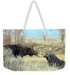 Bull Moose Challenge Weekender Tote Bag
