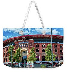 Weekender Tote Bag featuring the photograph Bullring In Barcelona by Eduardo Jose Accorinti