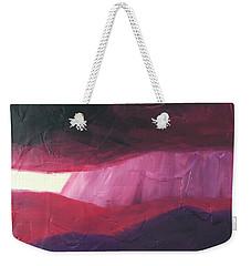 Burgundy Storm On The Horizon Weekender Tote Bag