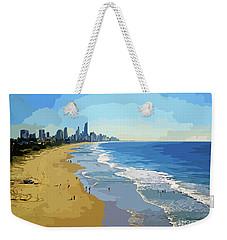 Burleigh Beach Gold Coast Australia 070708 Cartoon Weekender Tote Bag
