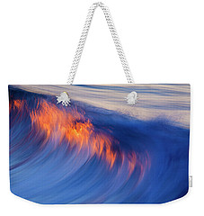 Burning Wave Weekender Tote Bag