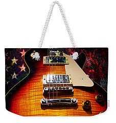 Burst Guitar American Flag Background Weekender Tote Bag
