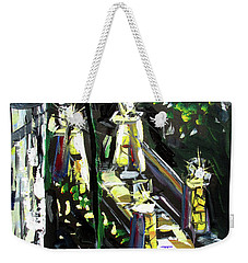 Weekender Tote Bag featuring the painting Burton Lanterns by John Jr Gholson