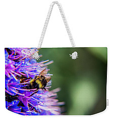 Weekender Tote Bag featuring the photograph Busy Bee 2 by Stuart Manning