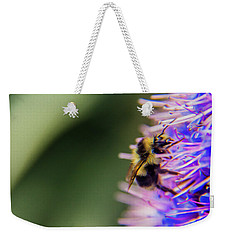 Weekender Tote Bag featuring the photograph Busy Bee by Stuart Manning
