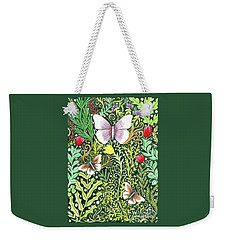 Butterflies In The Millefleurs Weekender Tote Bag
