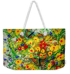 Weekender Tote Bag featuring the painting Butterfly Delight by Vincent Autenrieb