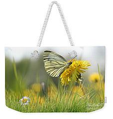 Butterfly On Dandelion Weekender Tote Bag