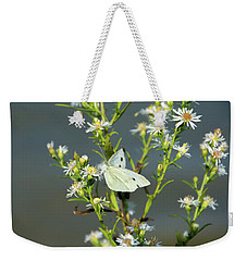 Cabbage White Butterfly On Flowers Weekender Tote Bag