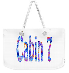 Cabin 7 Colors Weekender Tote Bag