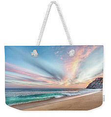 Weekender Tote Bag featuring the photograph Cabo San Lucas Beach Wave Sunset by Nathan Bush