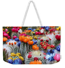Weekender Tote Bag featuring the photograph Cacti Flowers by Top Wallpapers