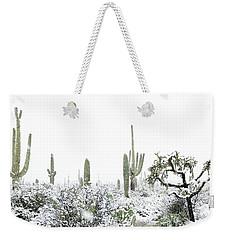 Cactus In The Snow Weekender Tote Bag