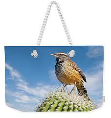 Cactus Wren On A Saguaro Cactus Weekender Tote Bag