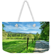 Weekender Tote Bag featuring the photograph Cades Cove In Spring by Mel Steinhauer