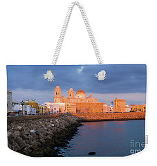 Weekender Tote Bag featuring the photograph Cadiz Skyline And Cathedral Andalucia Spain by Pablo Avanzini