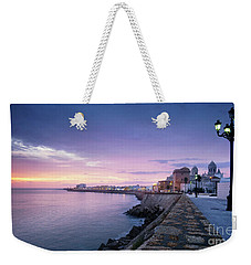 Weekender Tote Bag featuring the photograph Cadiz Skyline And Cathedral by Pablo Avanzini