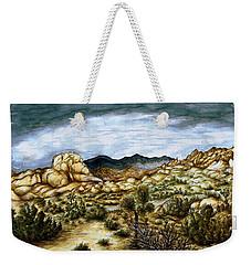 California Desert Landscape - Watercolor Art Painting Weekender Tote Bag