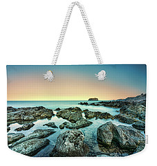 Calm Rocky Coast In Greece Weekender Tote Bag