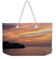 Weekender Tote Bag featuring the photograph Candelaria Bulwark At Dusk Cadiz Spain by Pablo Avanzini