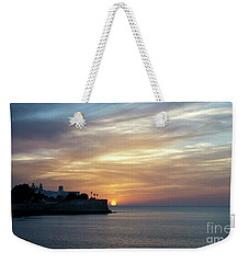 Weekender Tote Bag featuring the photograph Candelaria Bulwark At Sunset Cadiz Spain by Pablo Avanzini