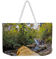 Weekender Tote Bag featuring the photograph Canin Creek Falls by Matthew Irvin