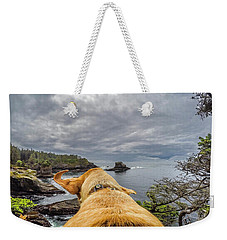 Weekender Tote Bag featuring the photograph Cape Flattery By Photo Dog Jackson by Matthew Irvin