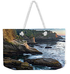 Weekender Tote Bag featuring the photograph Cape Flattery by Ed Clark