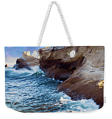 Weekender Tote Bag featuring the photograph Cape Kiwanda Oregon V4 by Rospotte Photography
