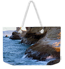 Weekender Tote Bag featuring the photograph Cape Kiwanda Pacific City Oregon 101818 by Rospotte Photography