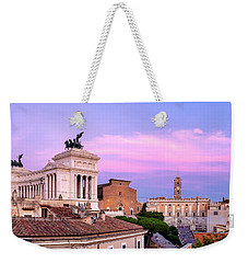 Weekender Tote Bag featuring the photograph Capitoline Hill by Fabrizio Troiani