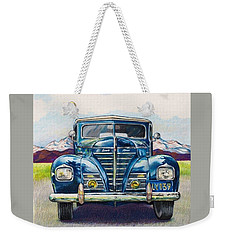 Weekender Tote Bag featuring the drawing Car 1 by Camille Rendal