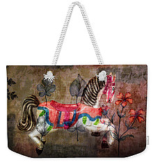 Weekender Tote Bag featuring the photograph Carousel Prancing Dream by Michael Arend
