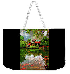 Carp At Dujiangyan Irrigation Cystem China Weekender Tote Bag