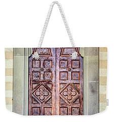 Carved Door Of Cortona Weekender Tote Bag