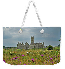 Weekender Tote Bag featuring the photograph Castle In The Wildflowers by Mark Duehmig