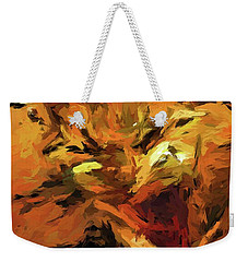 Cat Cathartic Scream Weekender Tote Bag