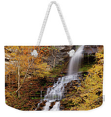 Weekender Tote Bag featuring the photograph Cathedral Falls by Pete Federico