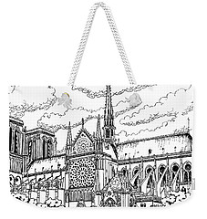 Weekender Tote Bag featuring the painting Notre Dame De Paris- Our Lady Of Paris by William Hart McNichols