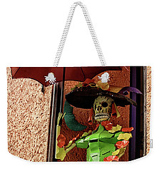 Weekender Tote Bag featuring the photograph Catrina Bonita In The Balcony by Tatiana Travelways