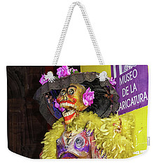 Weekender Tote Bag featuring the photograph Catrina - Museo De La Caricatura, Mexico City by Tatiana Travelways