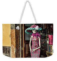 Weekender Tote Bag featuring the photograph Catrina Welcomes You by Tatiana Travelways