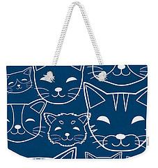 Weekender Tote Bag featuring the digital art Cats- Art By Linda Woods by Linda Woods