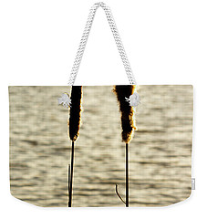 Cattails In The Sun Weekender Tote Bag