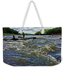 Weekender Tote Bag featuring the photograph Cedar River Iowa by Dan Miller