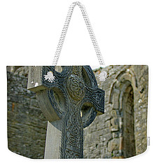 Weekender Tote Bag featuring the photograph Celtic Cross In Ireland by Mark Duehmig