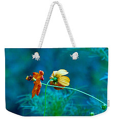 Weekender Tote Bag featuring the photograph Chance Meeting by Rosanne Licciardi