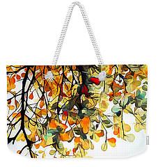 Weekender Tote Bag featuring the digital art Change Of Season by Pennie McCracken