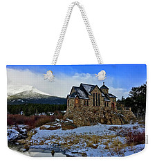 Weekender Tote Bag featuring the photograph Chapel On The Rock by Dan Miller
